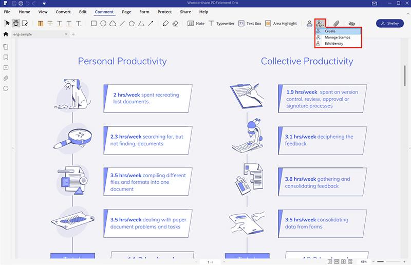 create custom stamp for pdf