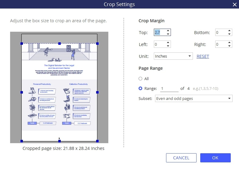 recortar páginas pdf