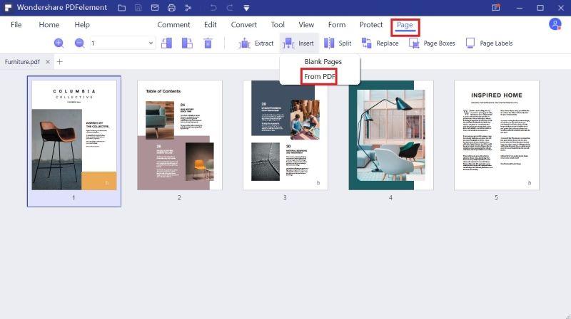 insertar páginas a pdf