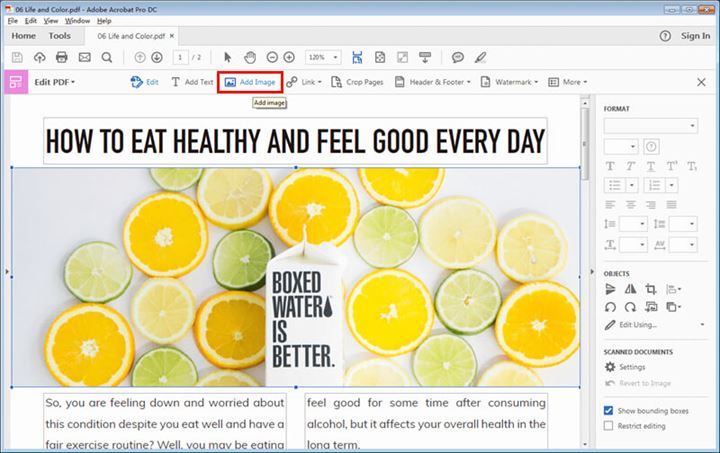 add image to pdf file