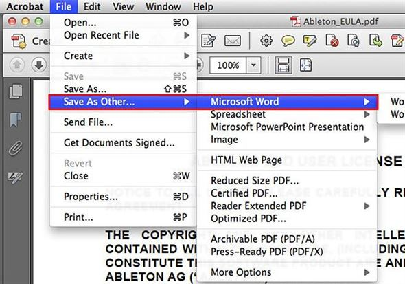 Quick-Start PDF to Word Mac Solution