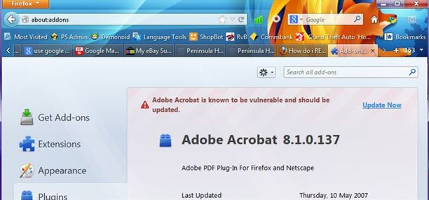 Update Adobe Acrobat Plug-in for Firefox