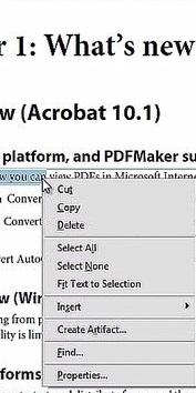adobe cut text in pdf