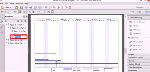 create pdf bookmark in adobe