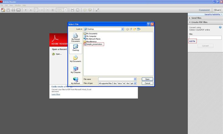 konvertiere png in pdf im adobe reader