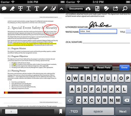 adobe reader iphone