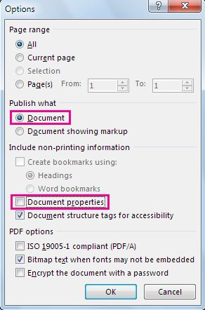 bmp to pdf in word