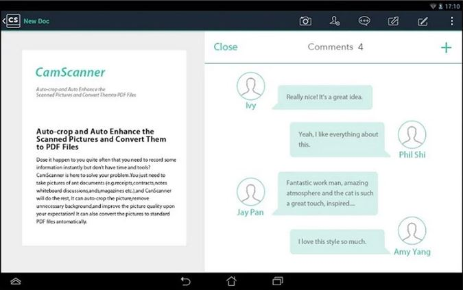 write notes on pdf android