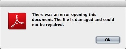 cannot open pdf file