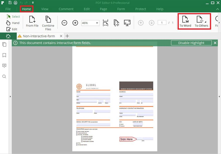 how to make a pdf form fillable mac