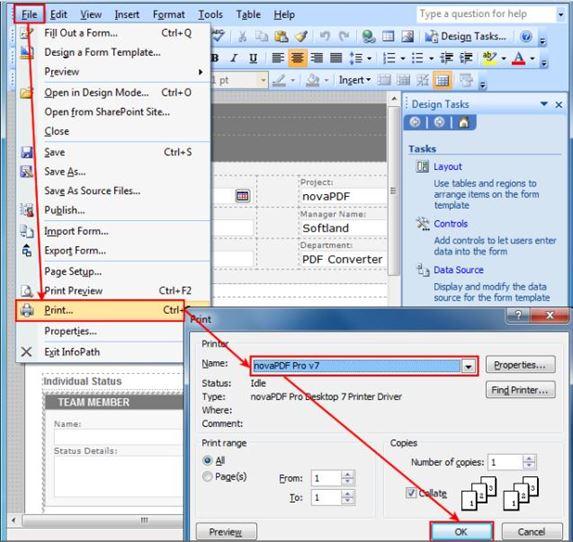 convert infopath form to pdf