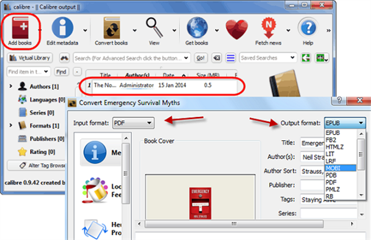 Convert PDF to MOBI with the Best PDF to MOBI Converter