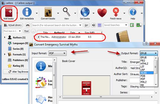 Mobi to pdf convert offline