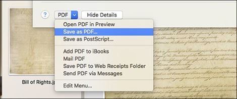 create a pdf from images on mac