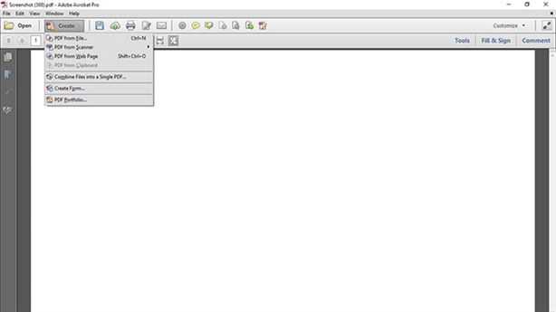 create pdf from scanner adobe