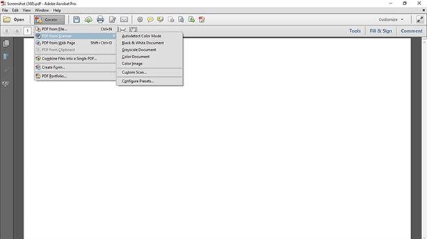 create pdf from scanner adobe reader