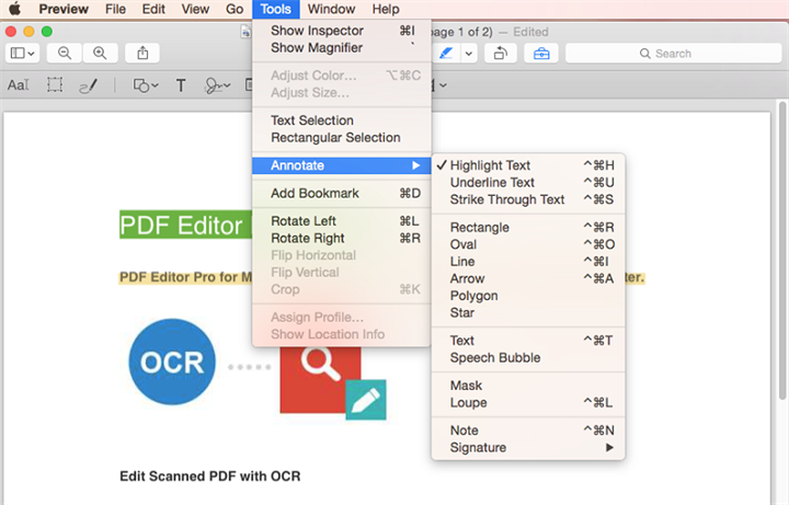 edit pdf in mac preview