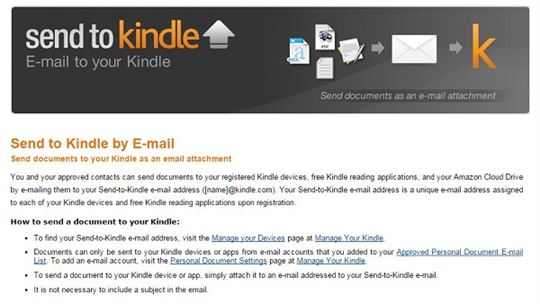 email to kindle
