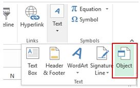 inserting pdf into excel