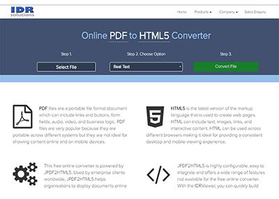 idr online pdf to html5
