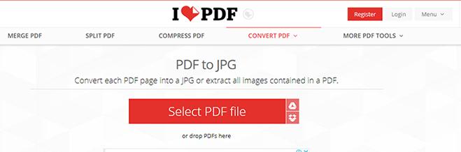 ilovepdf pdf to image