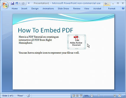 add pdf to ppt