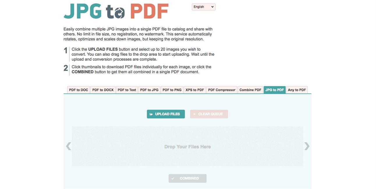 create a pdf from images online