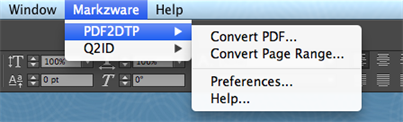 markzware esporta pdf in indesign
