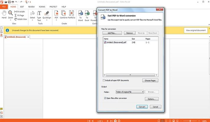free pdf converter  nitro