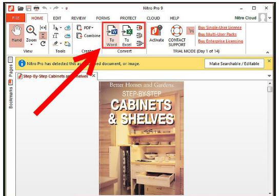 How to Convert PDF to Excel Using Nitro Pro