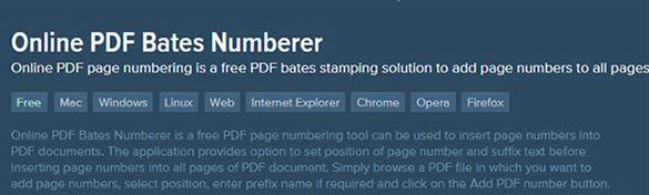 online pdf bates numberer