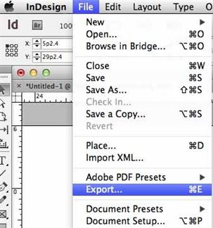 open a pdf in indesign