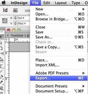 aprire un pdf in indesign