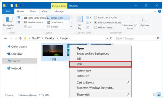 create pdf from images in windows