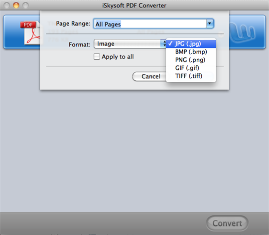 Convert PDF to JPEG PC