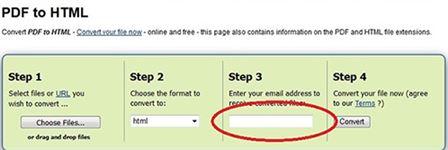 zamzar convert pdf to web