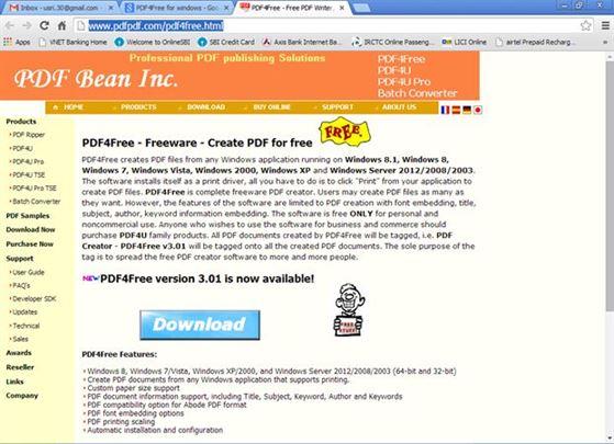 pdf creator download for windows