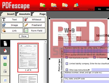 pdfescape pour tamponner un pdf