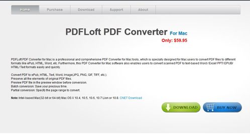 PDFLoft PDF Converter for Mac