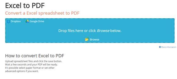 PDFWonder - Excel to PDF