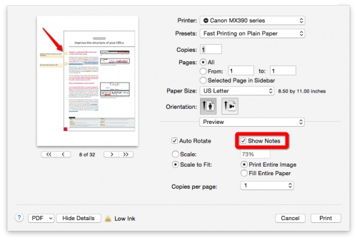 comment pdf in preview