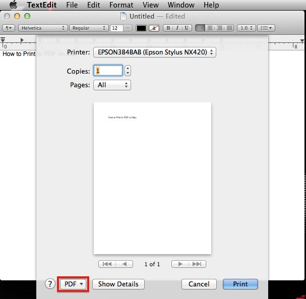 how to add pdf printer to mac