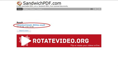 make pdf text searchable with sandwichpdf