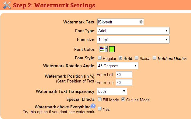 watermark images