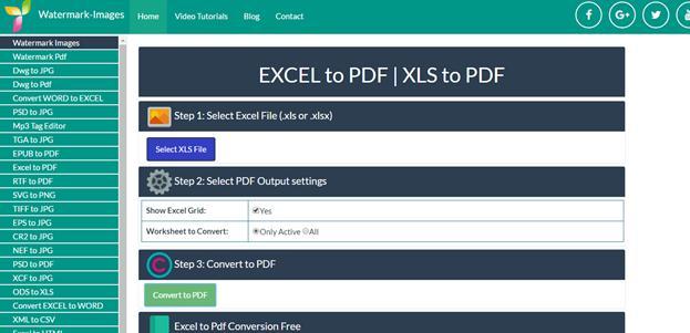 Watermark-Images Excel to PDF