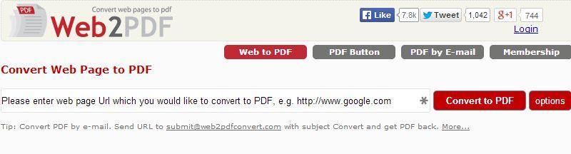 web2pdf converter