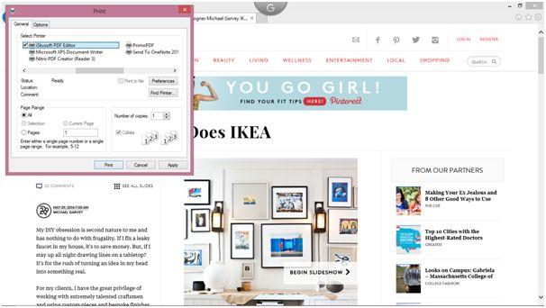 choose webpage pdf
