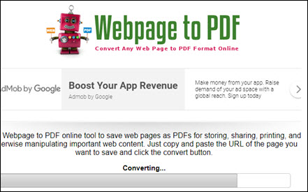 save html as pdf online