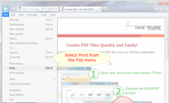 convert emails to pdf using win2pdf
