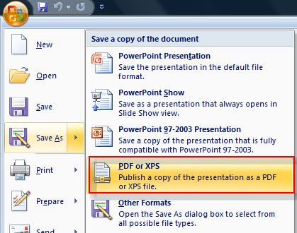 Convert WPS to PDF in Microsoft Word 2010
